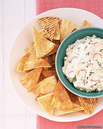FETA-RADISH SPREAD WITH PITA CRISPS [RECIPE]